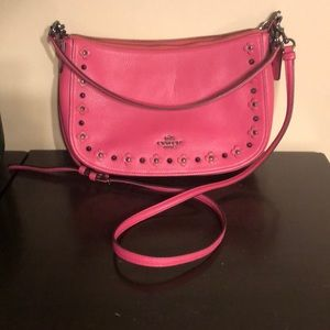 Pink Coach Crossbody Bag